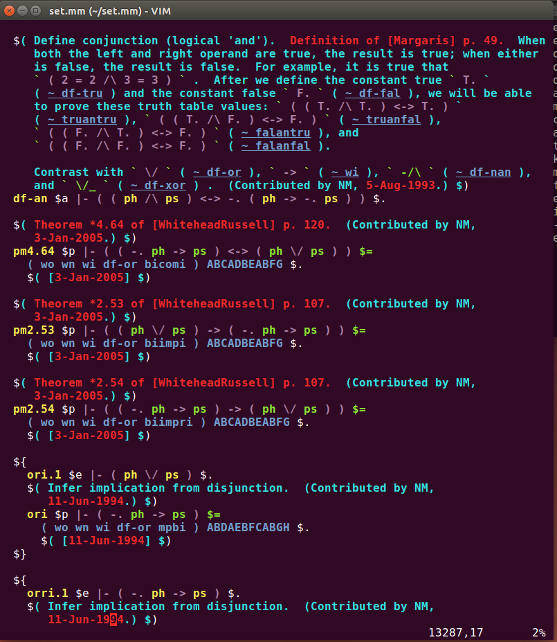 vim editor screenshot